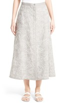 Lafayette 148 New York Carissa Linen Midi Skirt