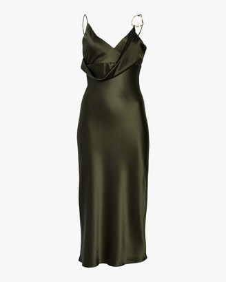 Cushnie Front Cowl Pencil Dress