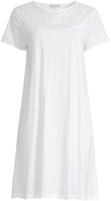 Hanro Kiah Embroidered Cotton Short Night Gown