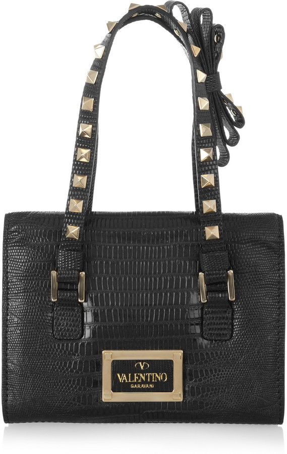 Valentino Small lizard shoulder bag