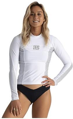Billabong Core Surf Daze Long Sleeve Rashguard (White) Women's Swimwear