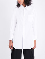 Comme des Garcons Oversized Peter Pan collar cotton-poplin shirt