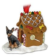 Mini A Ture Conversation Concepts Miniature Pinscher Tan & Black Ginger Bread House Ornament