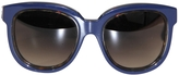 Balenciaga Blue Plastic Sunglasses