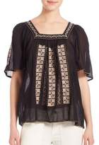 Joie Tahoma Embroidered Cotton Top