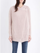Diesel M-quieres chunky-knit cardigan