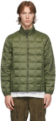 TAION Green Down Basic High Neck Puffer Jacket