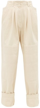 Lemaire Garment-dyed Straight-leg Jeans - Ivory