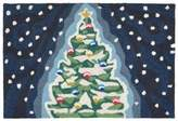 Liora Manné Midnight Christmas Tree 2-Foot x 3-Foot Indoor/Outdoor Accent Rug in Navy