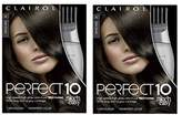 Clairol Perfect 10 By Nice 'N Easy Hair Color Kit (Pack of 2), Color, Includes Comb Applicator, Lasts Up To 60 Days