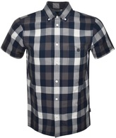 Aquascutum London Luke Check Shirt Navy