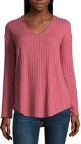 A.N.A a.n.a. Long Sleeve V-Neck Knit Tunic