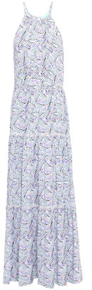 Melissa Odabash Isadora Lace-trimmed Printed Broadcloth Maxi Dress