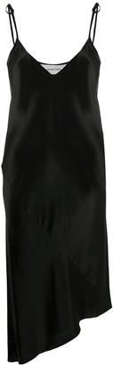 Marques Almeida Satin Asymmetric Hem Slip Dress