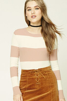 Forever 21 FOREVER 21+ Striped Ribbed Knit Top