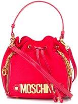 Moschino logo bucket shoulder bag