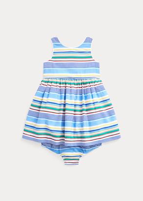 Ralph Lauren Striped Poplin Dress & Bloomer