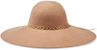 Eugenia Kim Bunny Chain-trimmed Wool-felt Hat