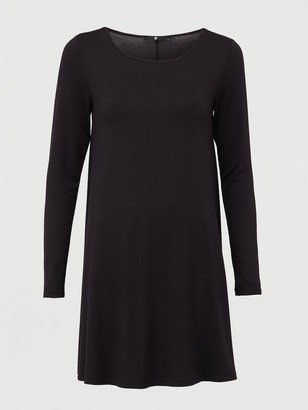Very Crew Neck Fit & Flare Dress - Black