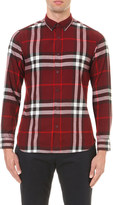 Burberry Checked regular-fit cotton shirt