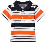 Timberland Red and Navy Stripe Logo Polo