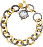 Freida Rothman Tiara Drop Charm Chain-Link Bracelet