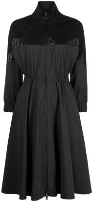 Moncler panelled A-line dress