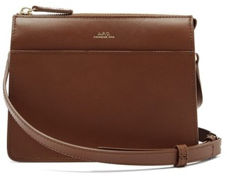 A.P.C. Ella Leather Cross-body Bag - Tan