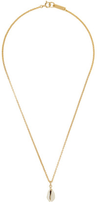 Isabel Marant Gold Shell Necklace