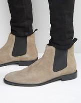 Dune Chelsea Boot Grey Suede