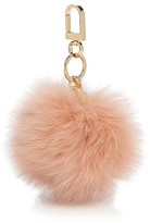 Tory Burch Fox Fur Pom Pom Key Fob