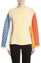 J.W.Anderson Women's Multicolor Cable Knit Sweater