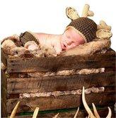 Kindstore Baby Photography Prop Handmade Boy Deer Beanie Caps Diaper