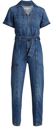 JONATHAN SIMKHAI STANDARD Golda Zip-Front Jumpsuit