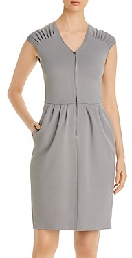 Giorgio Armani Emporio Cap-Sleeve Zip Dress