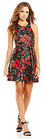Gianni Bini Clara Floral Sleeveless Fit-and-Flare Dress