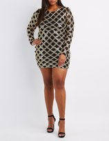 Charlotte Russe Plus Size Sequin Embroidered Bodycon Dress