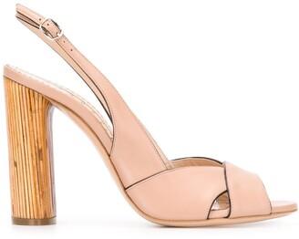 Casadei bamboo slingback 110mm sandals