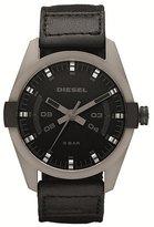 Diesel DZ1489 Men's Sandblasted Gunmetal IP Black Dial Black Canvas Fabric Strap Quartz Watch