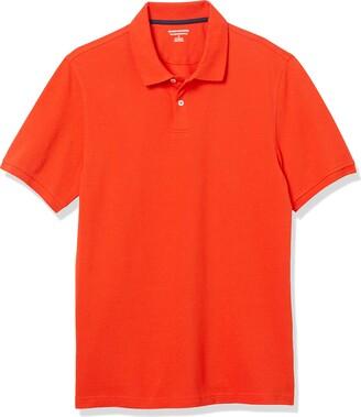 Amazon Essentials Slim-Fit Cotton Pique Polo Shirt Charcoal Heather Medium