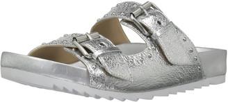 The Fix Amazon Brand Women's Upson Double Buckle Studded Footbed Platform Slide Sandal