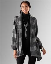 Grey Plaid Cocoona Jacket
