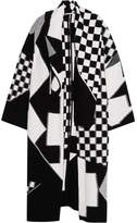 Stella McCartney Oversized Patchwork Wool Cardigan - Black