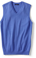 Lands' End Women's Regular Performance Sweater Vest-China Blue