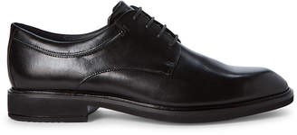 Ecco Black Vitrus II Leather Derby Shoes