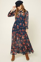 Forever 21 FOREVER 21+ Floral Peasant Maxi Dress