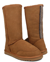 Sweet Tan Embroidered Boot - Women