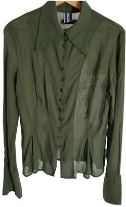 Jean Paul Gaultier Khaki Cotton Top for Women Vintage