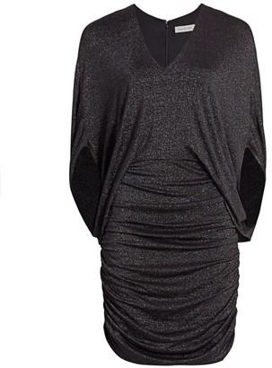 Halston Metallic Ruched Dress