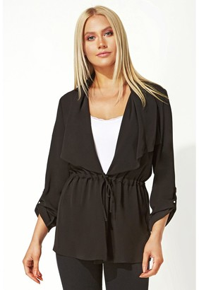 M&Co Roman Originals waterfall drawstring waist jacket